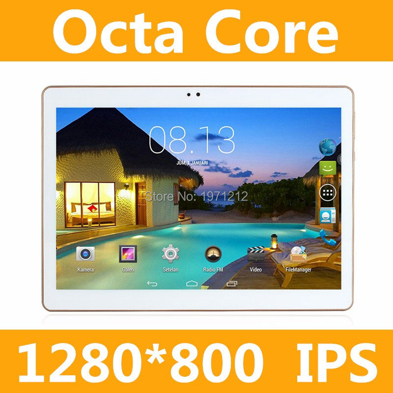 10.1 inch tablet pc Android octa core RAM 4GB ROM 64/128GB Dual SIM Bluetooth GPS 1280*800 IPS Smart tablets pcs 10'' 10.1