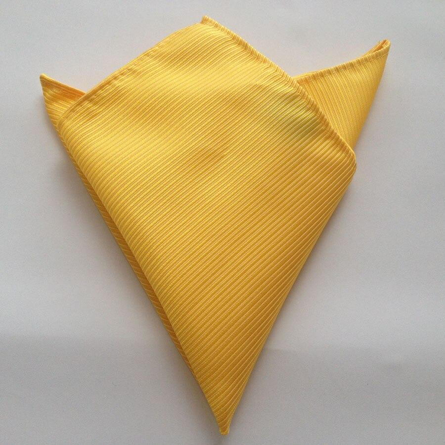 8 см уникальный набор галстуков с карманом квадратным твердым желтым галстуком