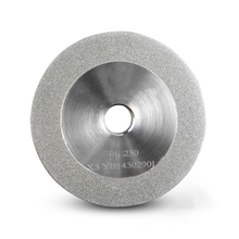 Diamond Grinding Wheel \u0028SDC or CBN optional\u0029 for End Mill Grinder Grinding Machine MR-X3, X3A, X6, F4, 78x10x12.7 mm