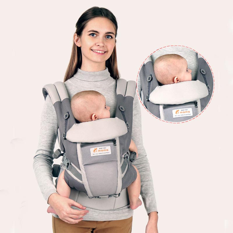 Mesh Breathable Ergonomic Baby Carrier Baby Sling Wrap Hipseat Baby Carrier Baby Kangaroo Backpack Newborn