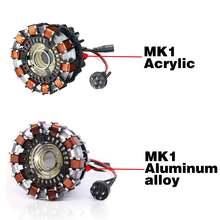 1:1 escala arco reator figura de ação remoto led luz arco mk1 diy peças modelo montado brinquedos lâmpada peito acrílico/liga alumínio