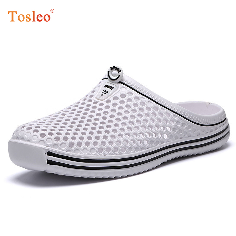 Summer Slippers Men 2018 New Men Summer Shoes Breathable Comfortable Men Home Slippers White Black Blue Gray Outdoor Chinelos