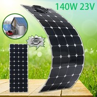 SP 28 140W 23V Semi Flexible Monocrystalline Solar Panel Waterproof High Conversion Efficiency For RV Boat Car + 1.5m Cable
