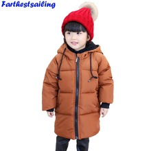 цена на 2018 New Children  Autumn Jacket  Kids Boys Winter Outerwear Enfant Hooded Coats Girls Down Cotton Clothing Baby Thick Parkas