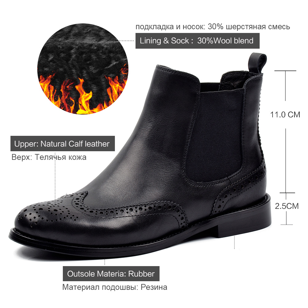 Bout Donna w9 Cuir 1608 Rond Chelsea Peluche Court Bottines Chaussures Véritable Richelieu à Femmes Bottes 2019 wool En Blend Main Plat Noir zrzwHqgxt