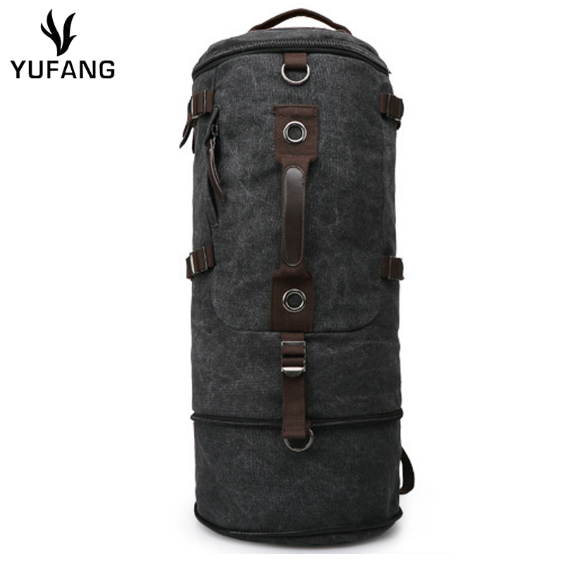 Classic Men's Travel Bags Large Pure Cotton Canvas Backpack European Style Men's Travel Bags Shoulder Bag