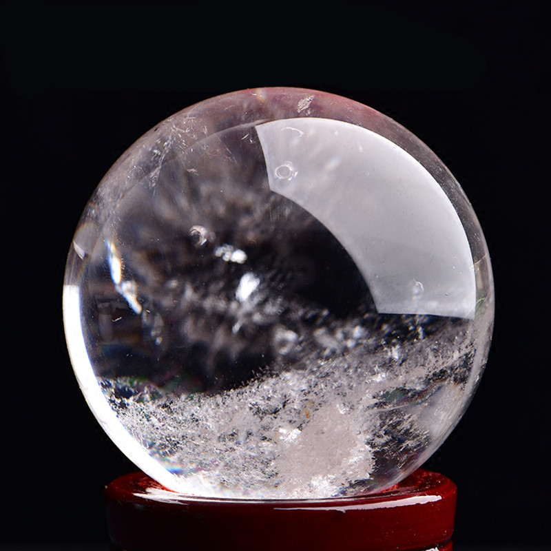 100% Natural Crystal Ball Magic Mineral Sphere For Precious Stone Collection Home Decoration Office Decor 3 To 20cm Clear Polish
