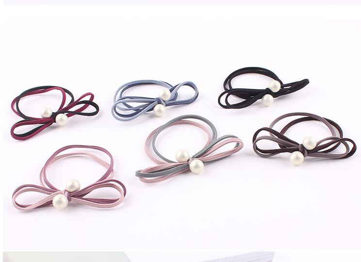 Women Scrunchy Rope Hair Accessories Elastic Rubber Bands Ring Headwear Girls Ponytail Holder Hair Tie bobbles 100pcs HD121