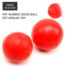 TPR eco-friendly pet toy Rubber solid ball bite molar relax pet toy molar toy bite resistance 2pcs/lot