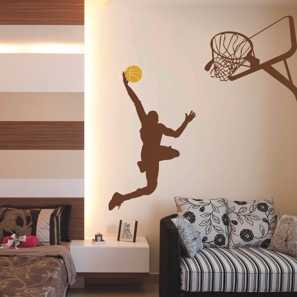 Slam dunk wall decal michael jordan basketball vinyl boy play room slam dunk wall decal michael jordan basketball vinyl boy play room decor 52inx48in in wall stickers from home garden on aliexpress alibaba group amipublicfo Choice Image