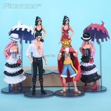 One Piece Luffy Zoro Robin Nami Mihawk Perona Action Figures 6pcs set