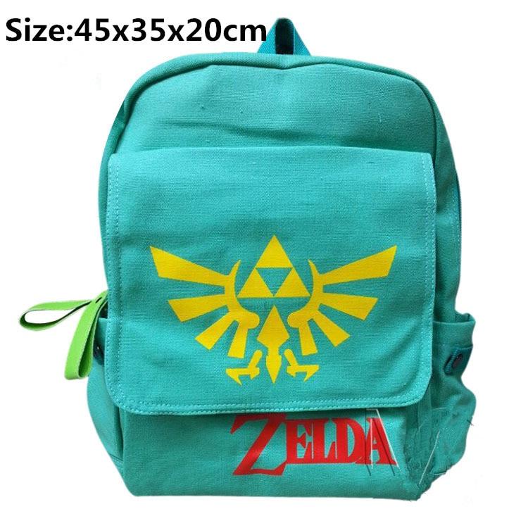 Legend of Zelda Triforce Canvas Backpack Bag boy & girl's anime the legend of zelda backpack bag school bag shoulder bag cosplay bag a style