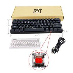 GK61 61 Key USB Wired LED Backlit Axis Gaming Mechanical Keyboard For Desktop Jy17 19 Dropship