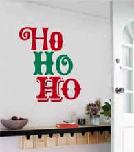 Creative Christmas Ho English Quotes Wall Sticker Art Mural For Home Livingroom Decor Merry MuralD-145