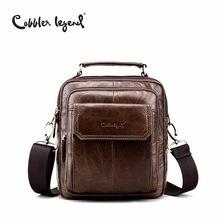 2172345a8329 Сапожник Легенда натуральная кожа сумка для Для мужчин природных воловьей  небольшая дорожная сумка человек Винтаж Бизнес