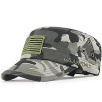 2017 nieuwe camouflage militaire hoeden mannen outdoor zonnebrandcrème cap verstelbare zomer zonnehoed mannelijke dunne katoen vizier