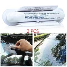 2X Автомобильное лобовое стекло универсальные Анти дождь стеклоочистители синий мягкий абсорбент моющее полотно лобовое стекло автомобиля водоотталкивающий