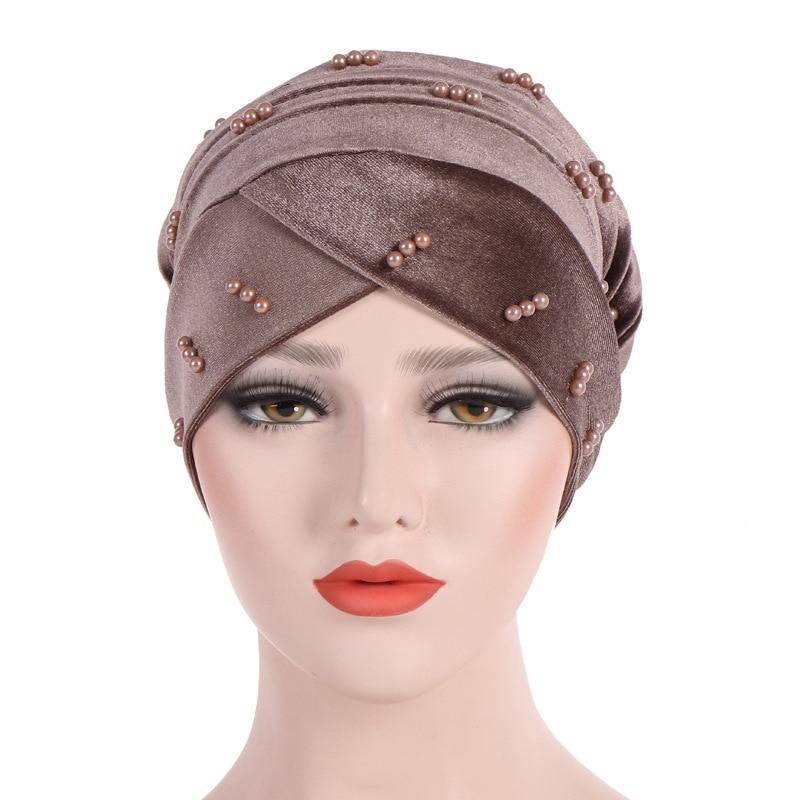 Women Velvet Muslim Hijab Inner IslamicTurban Stretch Hat Ladies Head Wraps Cap  Muslim Scarf  Turbans Inner Hijab