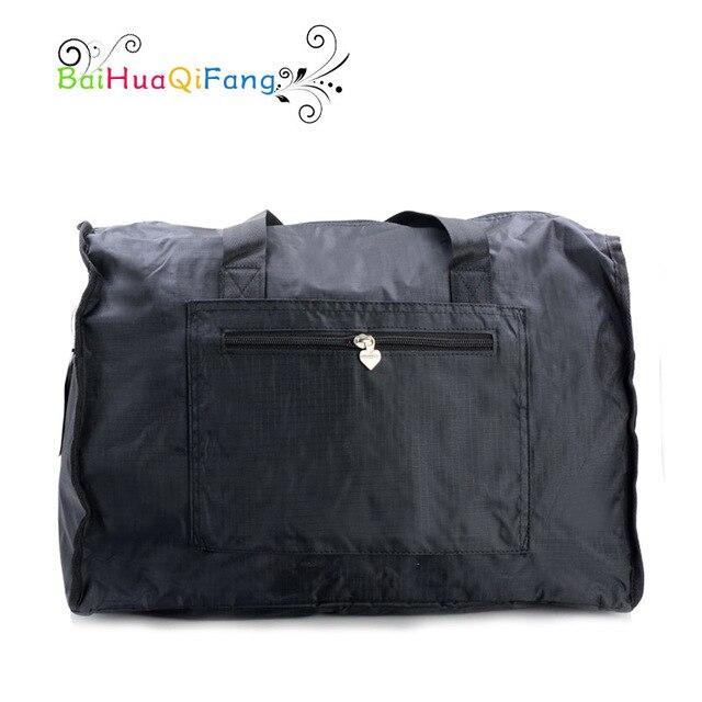 Дизайнер большой емкости женщина черная сумка доказательство воды ПВХ складной багаж сумки для путешествий 2 цвета bolsa де viagem