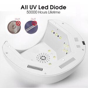 Image 5 - ROHWXY 6/36/48/54/60/72W lámpara UV LED secador de uñas para todos los geles pantalla LCD luz solar temporizador de infrarrojos para manicura