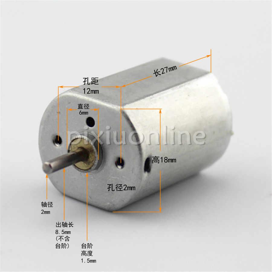 2 pcs/lot J717 6 V 0.58A 17000 rpm Mini bricolage DC moteur 3-6 V alimentation gratuite russie livraison