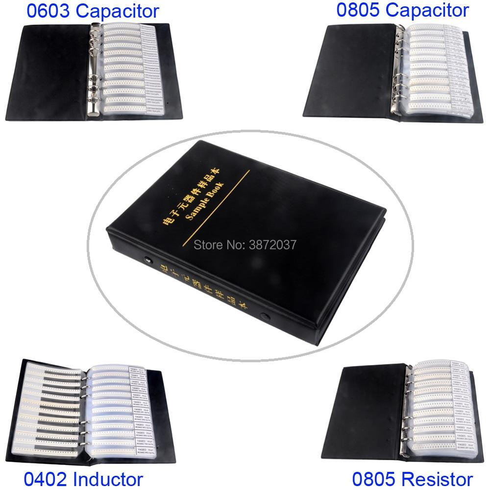 0603 0805 0402 SMD Resistor Capacitor Inductance Inductor Sample Book Assortment Kit цены