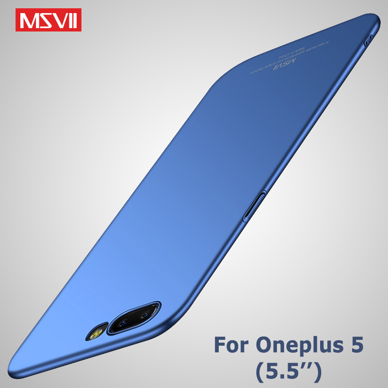 Oneplus 5 Case MSVII Brand Silm Scrub Cover one plus 5 T Cases oneplus 5T Case Hard PC Back Cover For one plus 5T Oneplus5 Cases