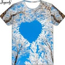 Joyonly Boys Girls Funny 3D T-Shirt Blue Sky White Tree Love Pattern  Printed Cool T Shirt 2018 Summer Children Casual Clothing 6572b91b8129