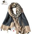 New Fashion Geometric Striped Shawls and Wraps for Women Oversized Long Tassel Scarves Outdoor Casual Foulard for Ladies