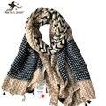 Nova Moda Geométrica Listrado Xales e Wraps para Mulheres Oversized Longa Borla Lenços Foulard para Senhoras Casuais Ao Ar Livre