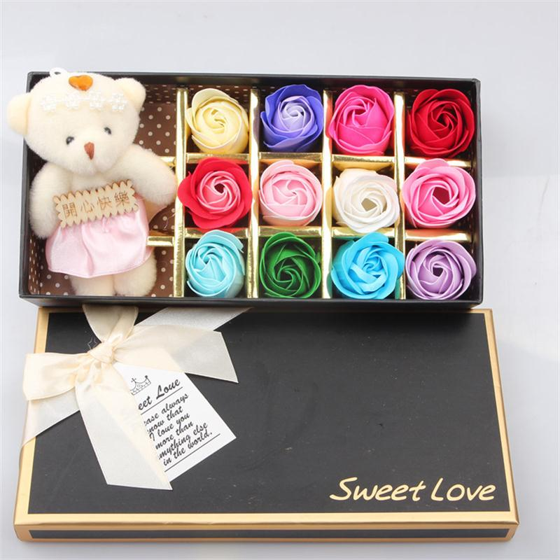 1PC Rose Soap Flower Gift Box Christmas Day New Years Company Activity Wedding Birthday Return Gifts Out Of Stock