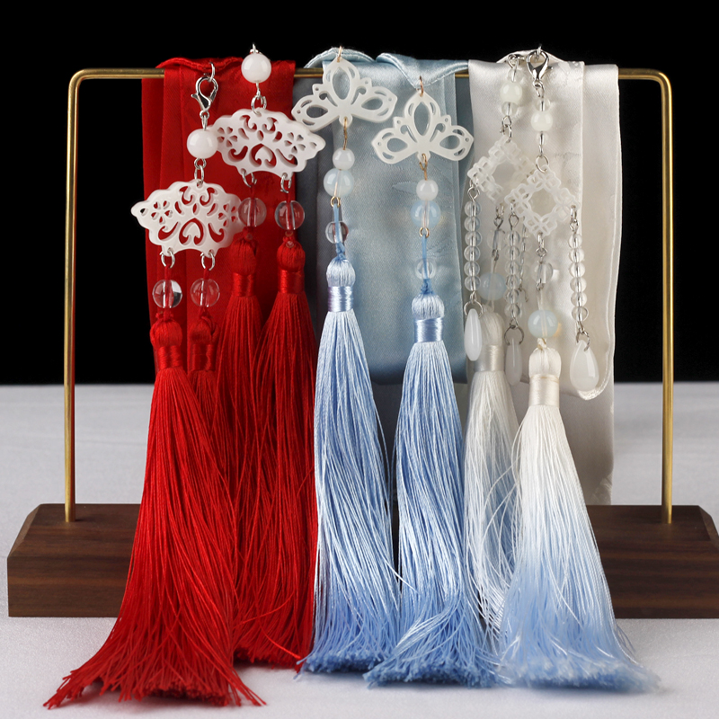 Hair Band Hanfu Headdress Ancientry Dovetail Super Girl Fairy Costume Accessories Show Hair Ribbon Tied A Rope