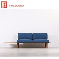 Образ современный деревянный диван и диваны конструкции в ткани для продажи