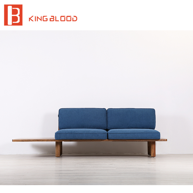 Image Of Modern Wooden Sofa Set And Couches Designs In Fabric For Sale