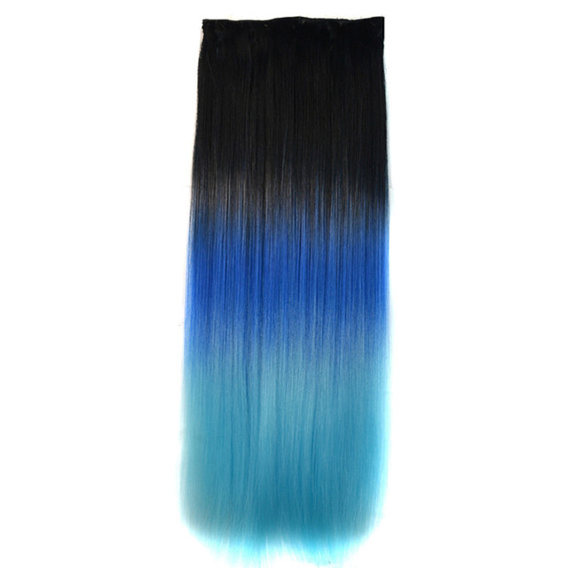 Soloowigs yaki straight ombre hair extension high temperature soloowigs yaki straight ombre hair extension high temperature fiber women 60cm24cm 5 clip pmusecretfo Choice Image