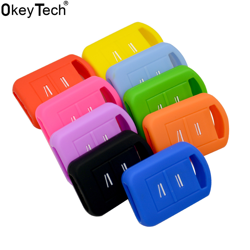 OkeyTech Car Key Silicone Set Cover Fob Fit For Opel Vauxhall Corsa Meriva Combo Romet 2 Buttons Case Shell New Skin Protected