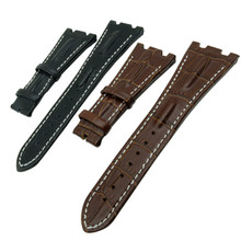New 28mm Black Brown Genuine Leather Wacth Strap Band  for AP Fit Audemars Piguet Watchband + Tool
