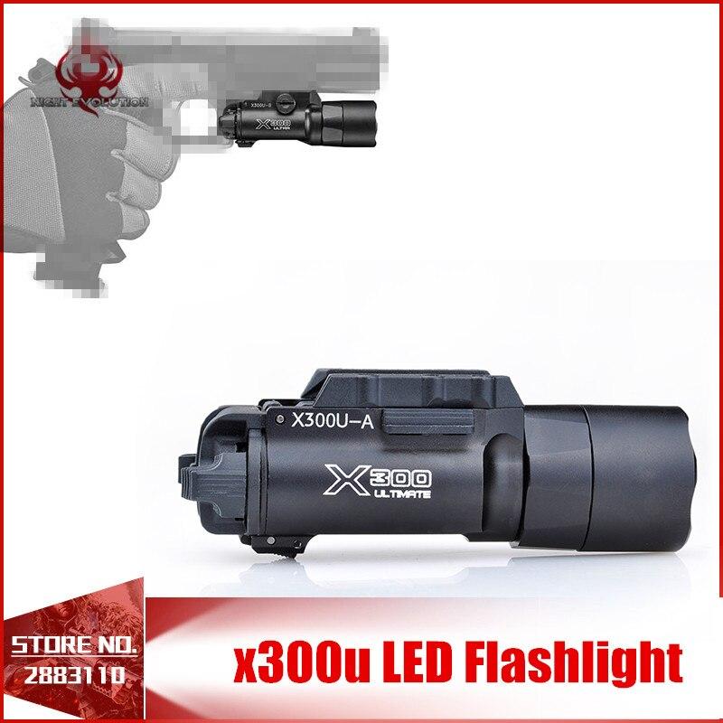 Nuit Evolution Softair Tactique lampe de Poche x300u LED lampe de Poche Tactique Gun Arme Légère Pour Arme NE01008