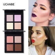 UCANBE Makeup Highlighter Palette Iluminador Bronzer Face Contouring Highlight Powder Waterproof Face Glow Kit Makeup Cosmetics недорого