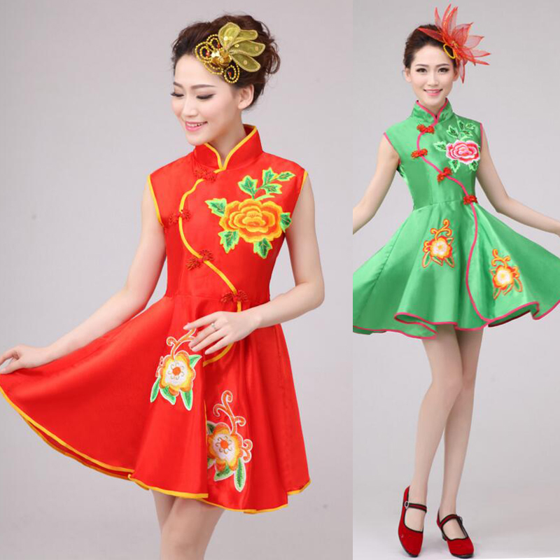 f28f0767a243 children girl chinese costume dance clothing set stage costumes for ...