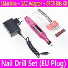Electric Professional Nail Drill Manicure Machine Nails File Art Pen Polish Drill Equipment Tools EU Plug YB242-SZ+