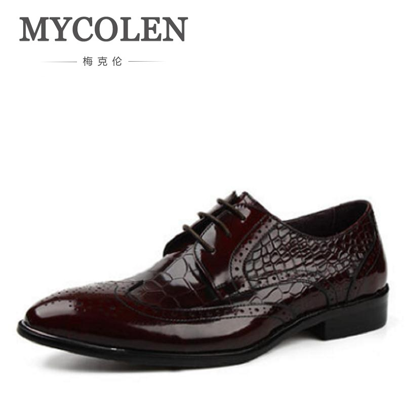 MYCOLEN New Luxury Designer Genuine Leather Hollow Carved Business Dress Men Shoes Classic Casual Shoe Oxford Male Schoenen