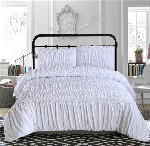 Brief White Grey Princess Ruched Duvet Cover Set Pinch Pleat 3 4pcs Queen Size Bedclothes Bedding Sets No Filling Sheet In From Home