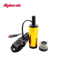 38MM Aluminium Alloy Oil Diesel Fuel Water Pump 12/24V DC Electric Submersible Pump for Boat With Automobile Adapter