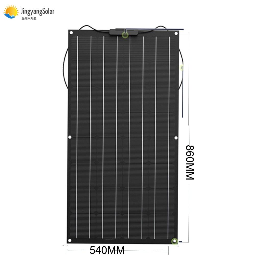 Flexibele Zonnepaneel 80 W ETFE + EVA film Fotovoltaïsche Zonnepaneel (Thermostable) 18 V voor 12 V solar battery charger mono zonnecel-in Zonnecellen van Consumentenelektronica op  Groep 1