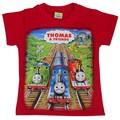 Envío gratis 2015 nueva moda niñas ropa patrón de verano camiseta Thomas tren buena calidad y bajo precio