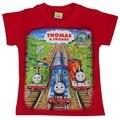 Grátis frete 2015 nova moda meninos meninas roupas hot summer T-shirt do teste padrão Thomas trem de boa qualidade e baixo preço