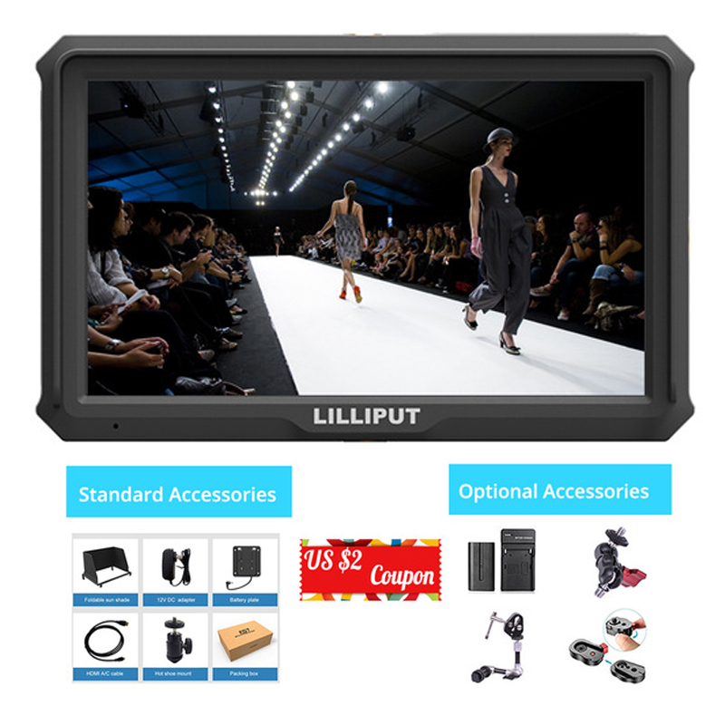 Lilliput A5 5 inch FHD 1920x1080 4K HDMI On Camera Field Monitor 5 inch Broadcast monitor