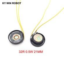 2pcs/lot New Ultra-thin Toy-car horn 32 ohms 0.25 watt 0.25W 32R speaker Diameter 21MM 2.1CM With Wire
