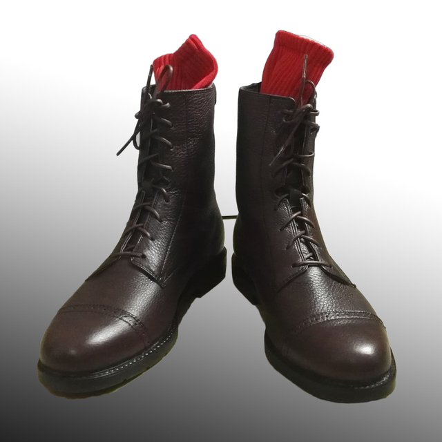 ww2 soldier 100 genuine leather boots horse riding boots high